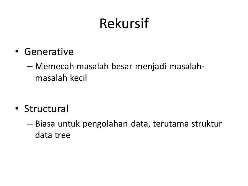 Rekursif Generative Structural