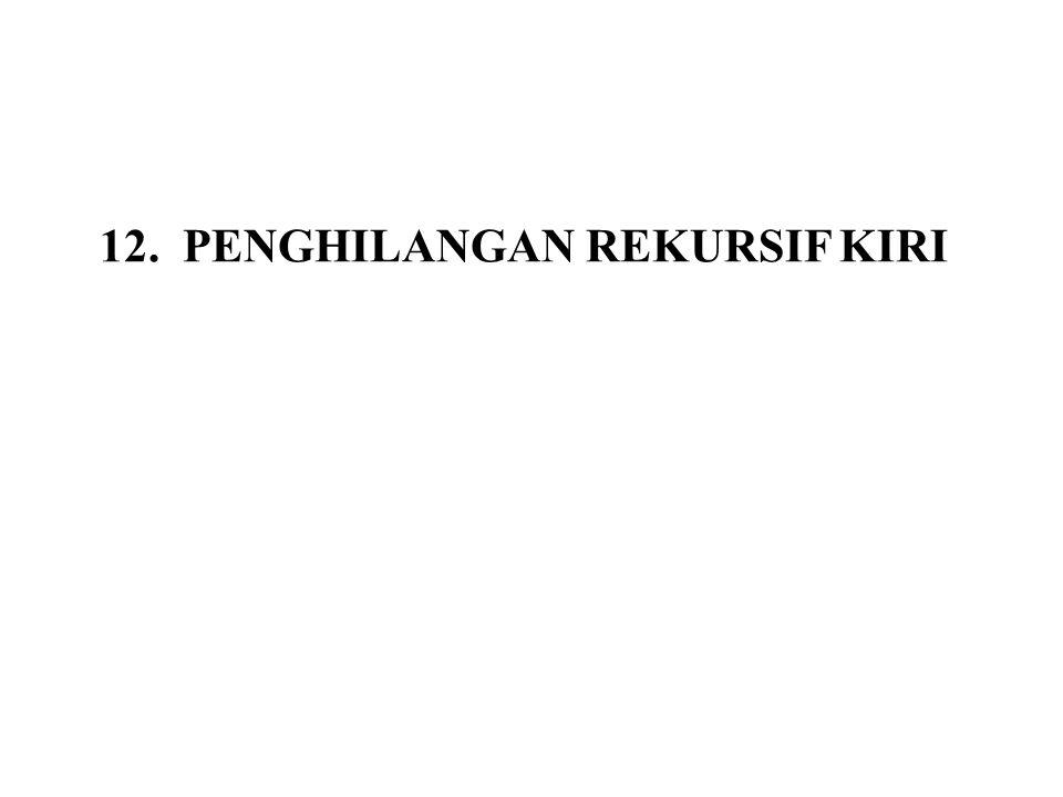 12. PENGHILANGAN REKURSIF KIRI