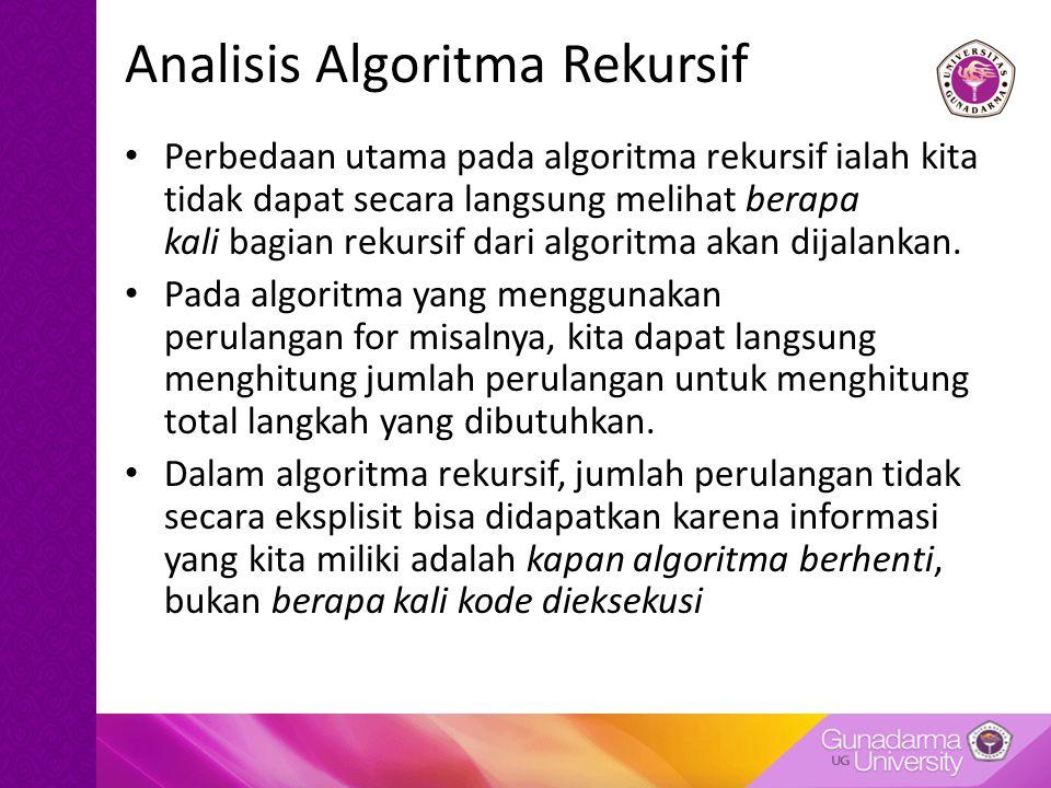 Analisis Algoritma Rekursif