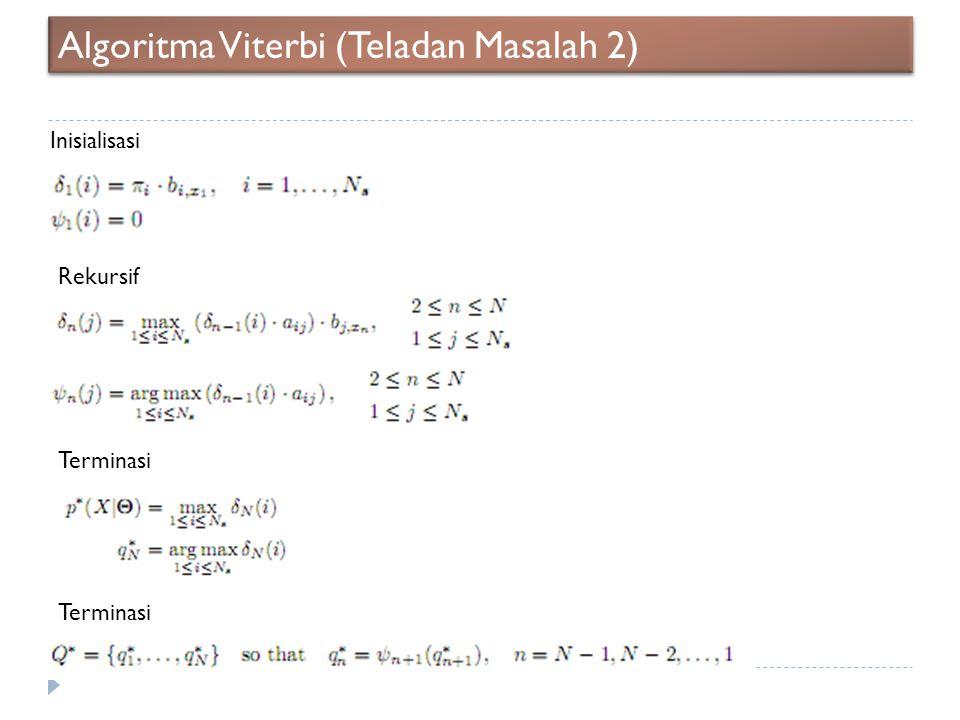 Algoritma Viterbi (Teladan Masalah 2)