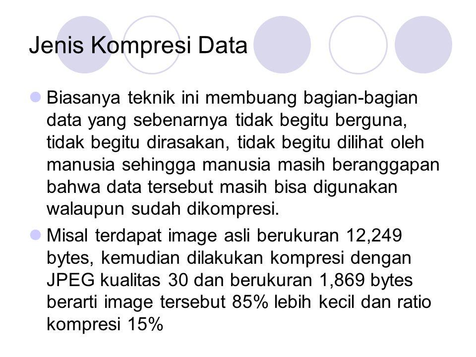 Jenis Kompresi Data