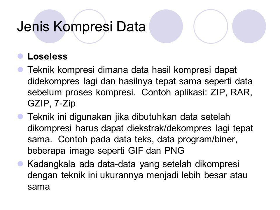Jenis Kompresi Data Loseless