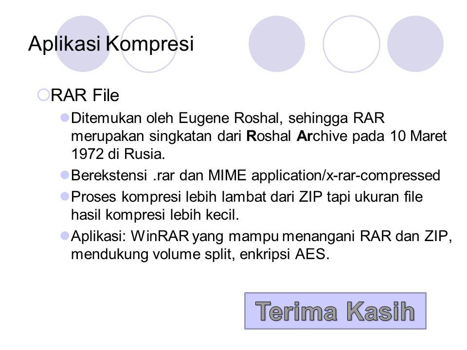 Terima Kasih Aplikasi Kompresi RAR File