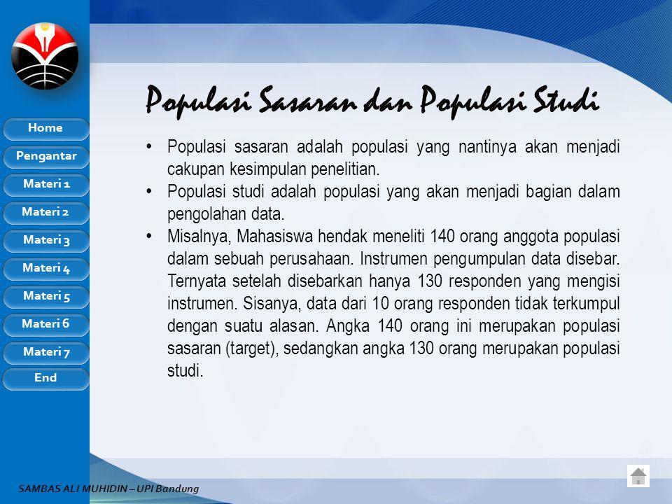 Populasi Sasaran dan Populasi Studi