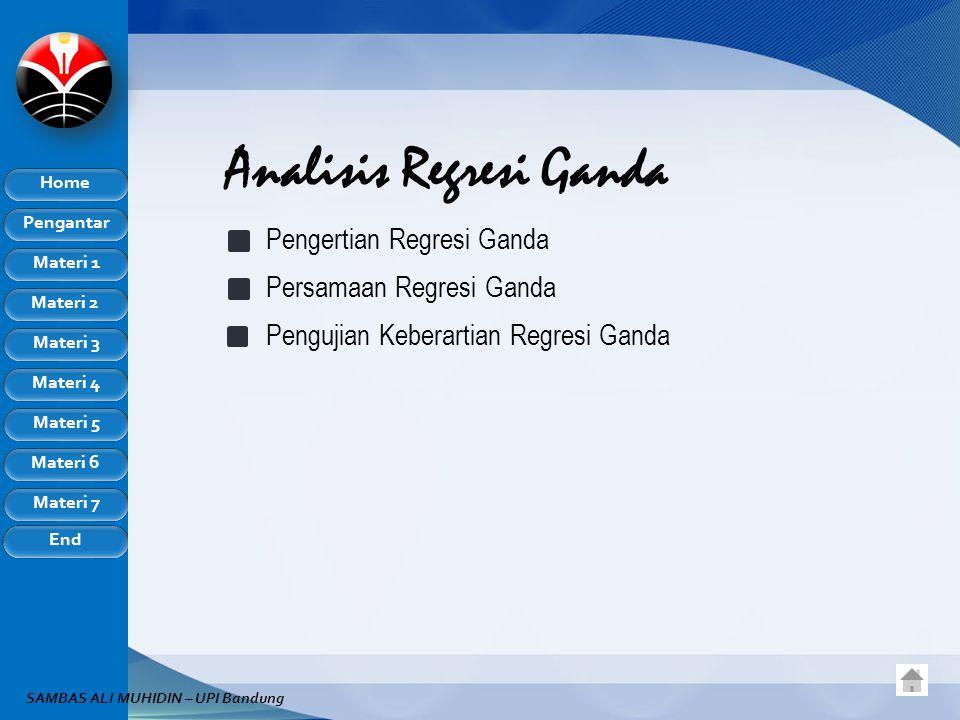 Analisis Regresi Ganda
