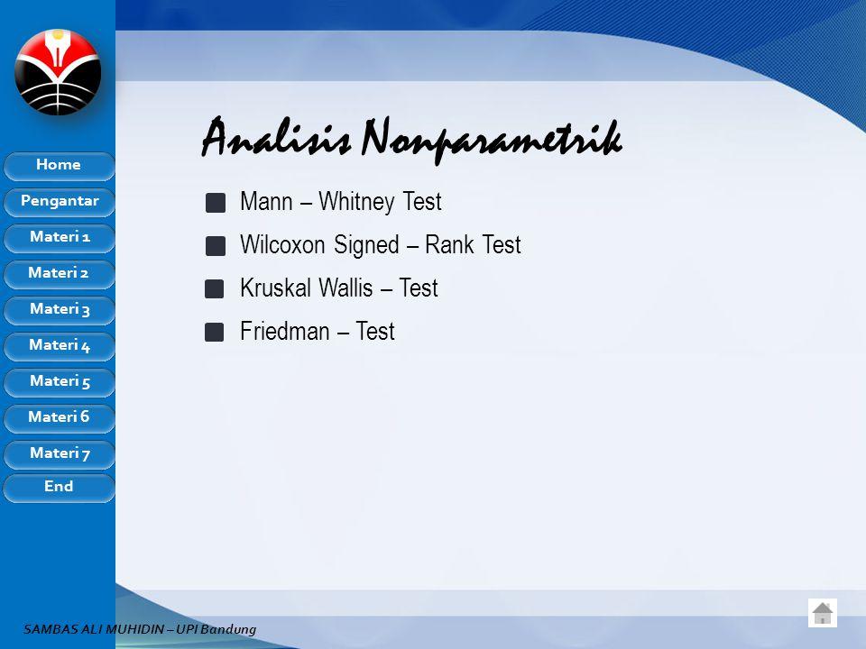 Analisis Nonparametrik