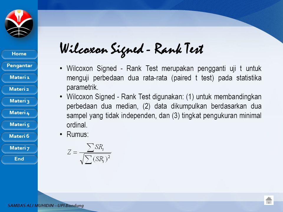 Wilcoxon Signed - Rank Test