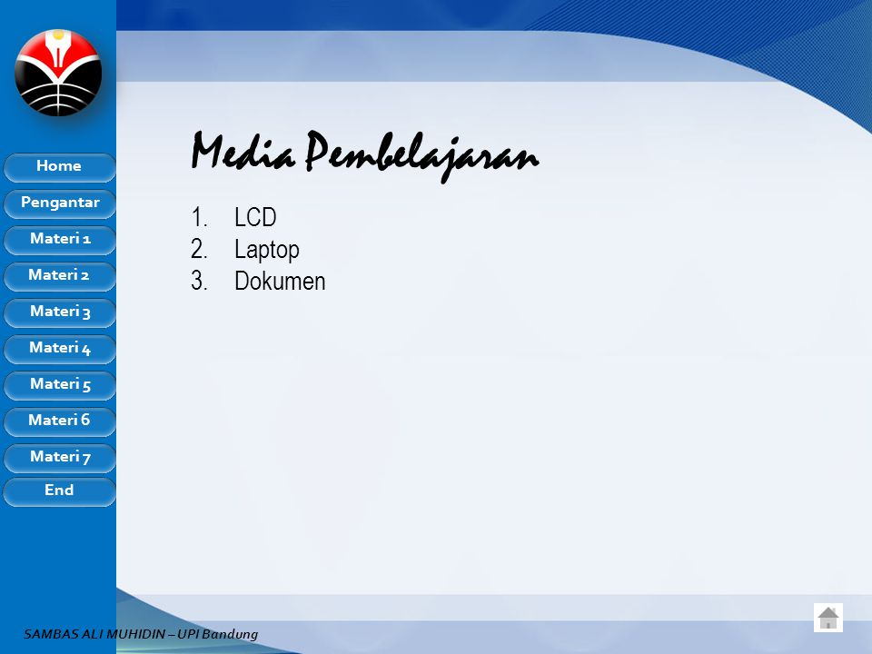 Media Pembelajaran LCD Laptop Dokumen