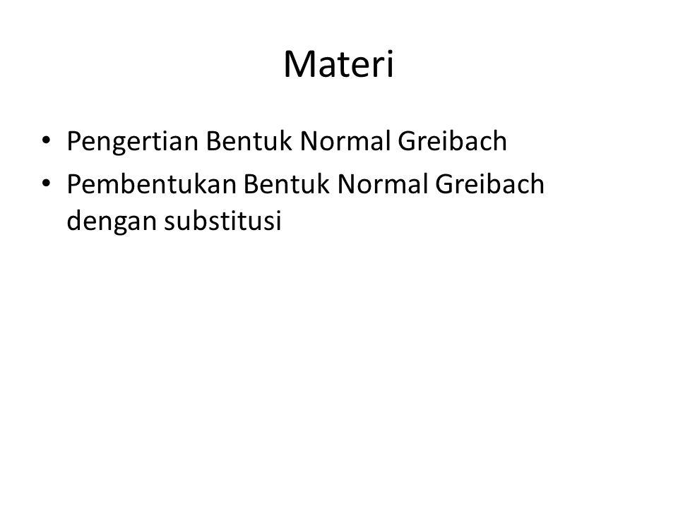 Materi Pengertian Bentuk Normal Greibach
