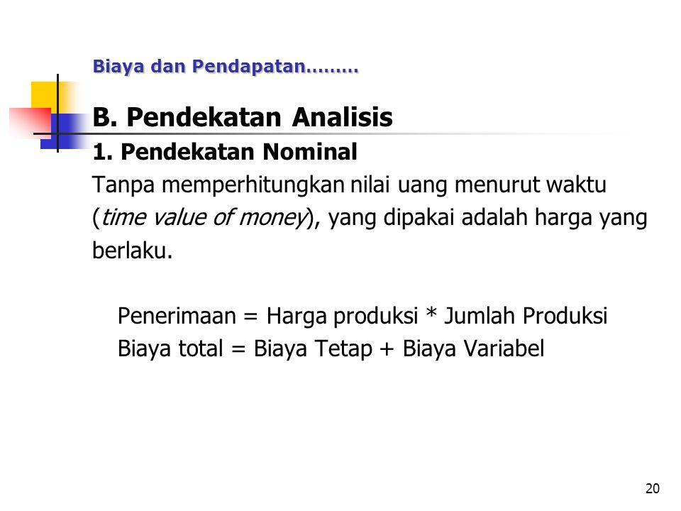 B. Pendekatan Analisis 1. Pendekatan Nominal