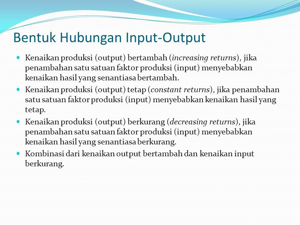 Bentuk Hubungan Input-Output