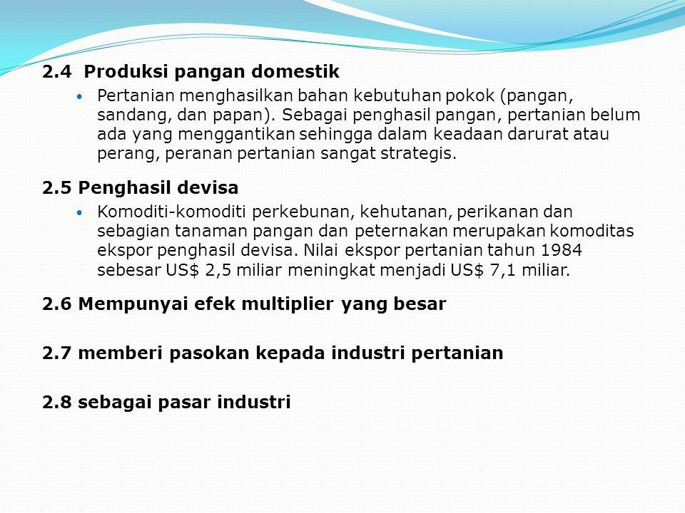 2.4 Produksi pangan domestik
