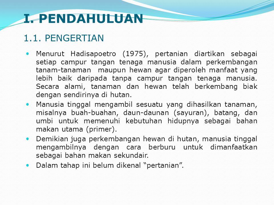 I. PENDAHULUAN 1.1. PENGERTIAN