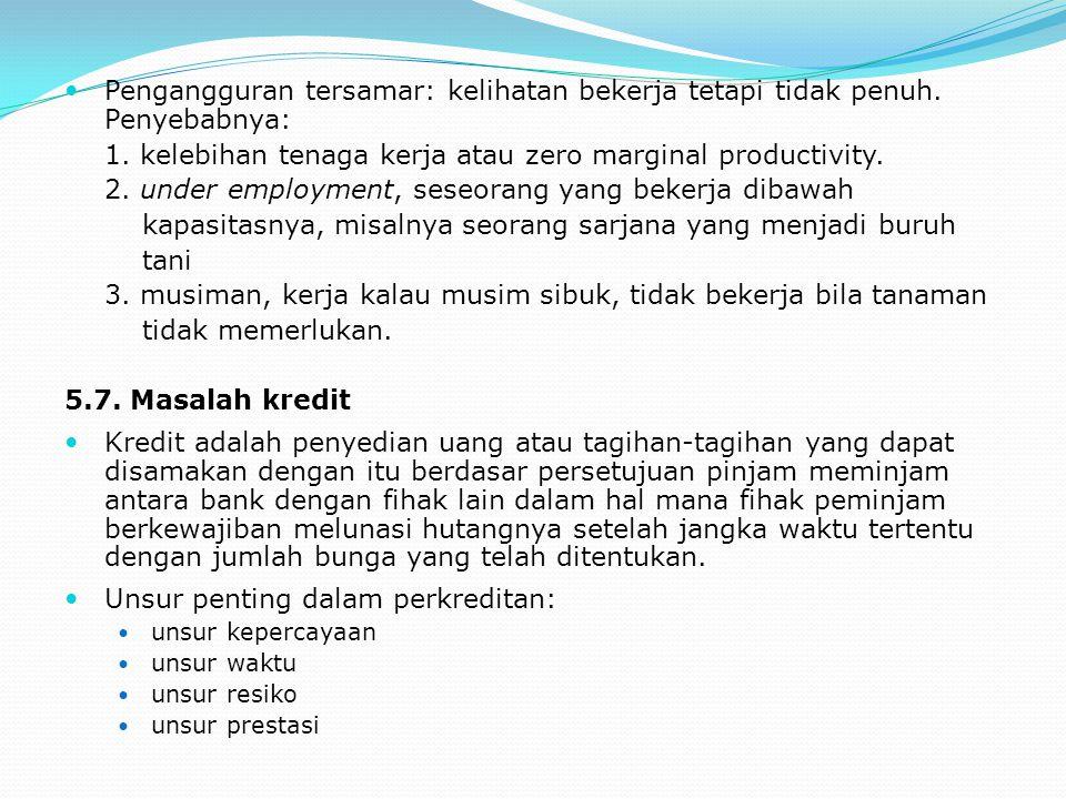 1. kelebihan tenaga kerja atau zero marginal productivity.