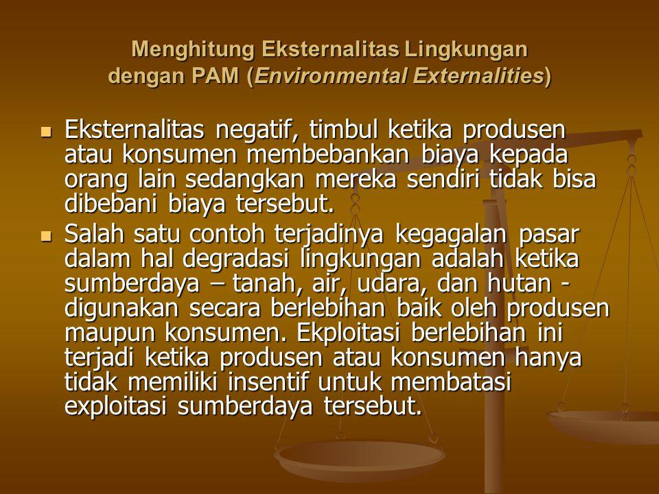 Menghitung Eksternalitas Lingkungan dengan PAM (Environmental Externalities)
