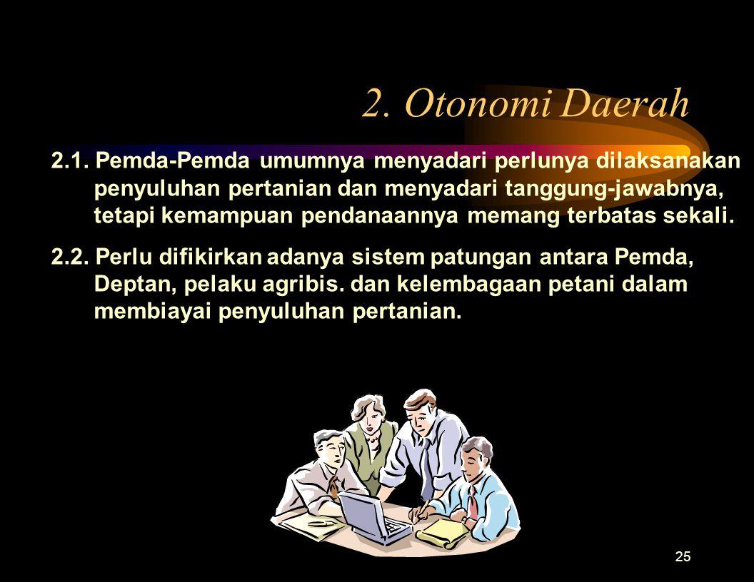 2. Otonomi Daerah