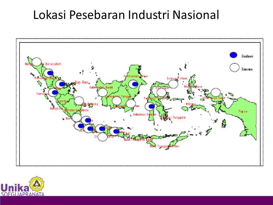 Lokasi Pesebaran Industri Nasional