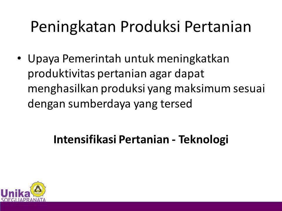 Peningkatan Produksi Pertanian