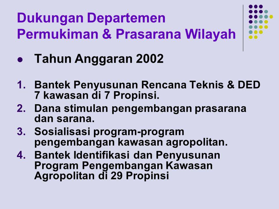 Dukungan Departemen Permukiman & Prasarana Wilayah