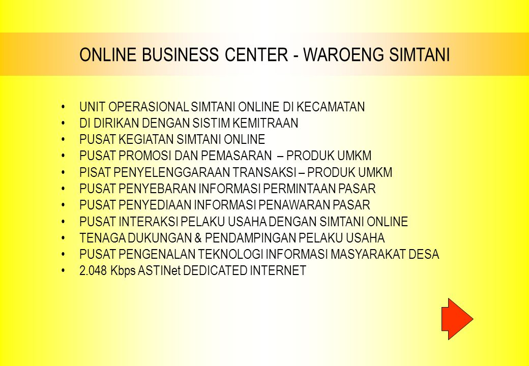 ONLINE BUSINESS CENTER - WAROENG SIMTANI