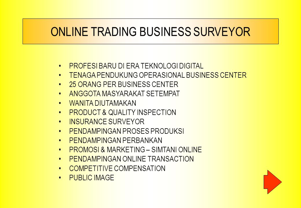 ONLINE TRADING BUSINESS SURVEYOR