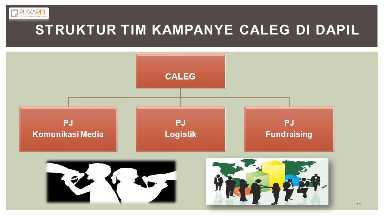 Struktur Tim Kampanye Caleg di Dapil
