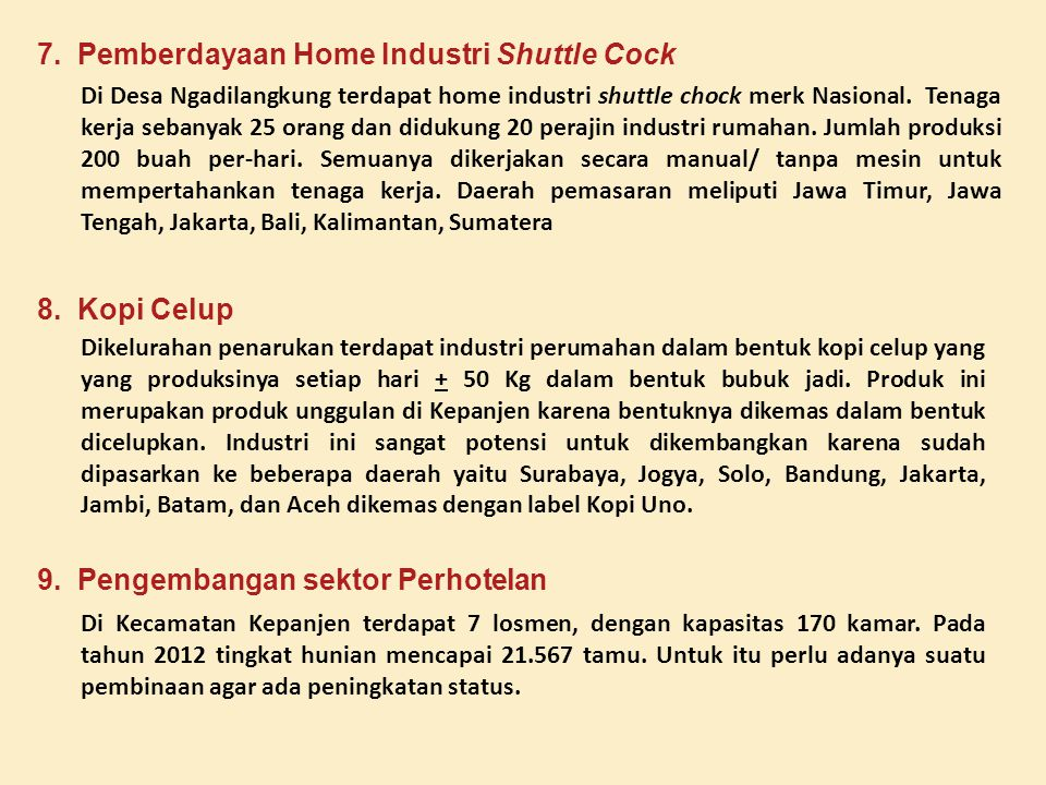 7. Pemberdayaan Home Industri Shuttle Cock
