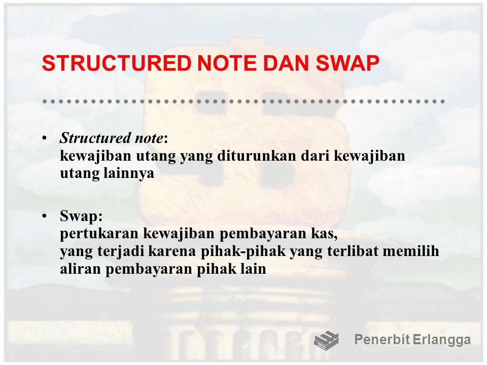 STRUCTURED NOTE DAN SWAP