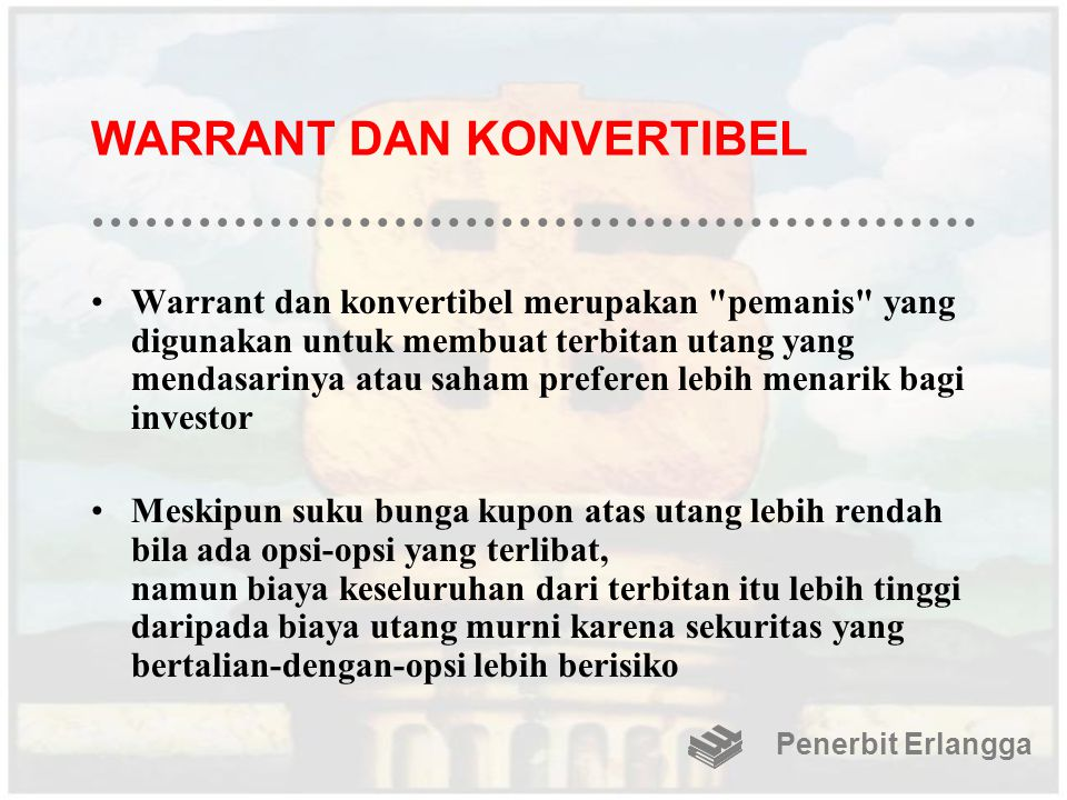 WARRANT DAN KONVERTIBEL