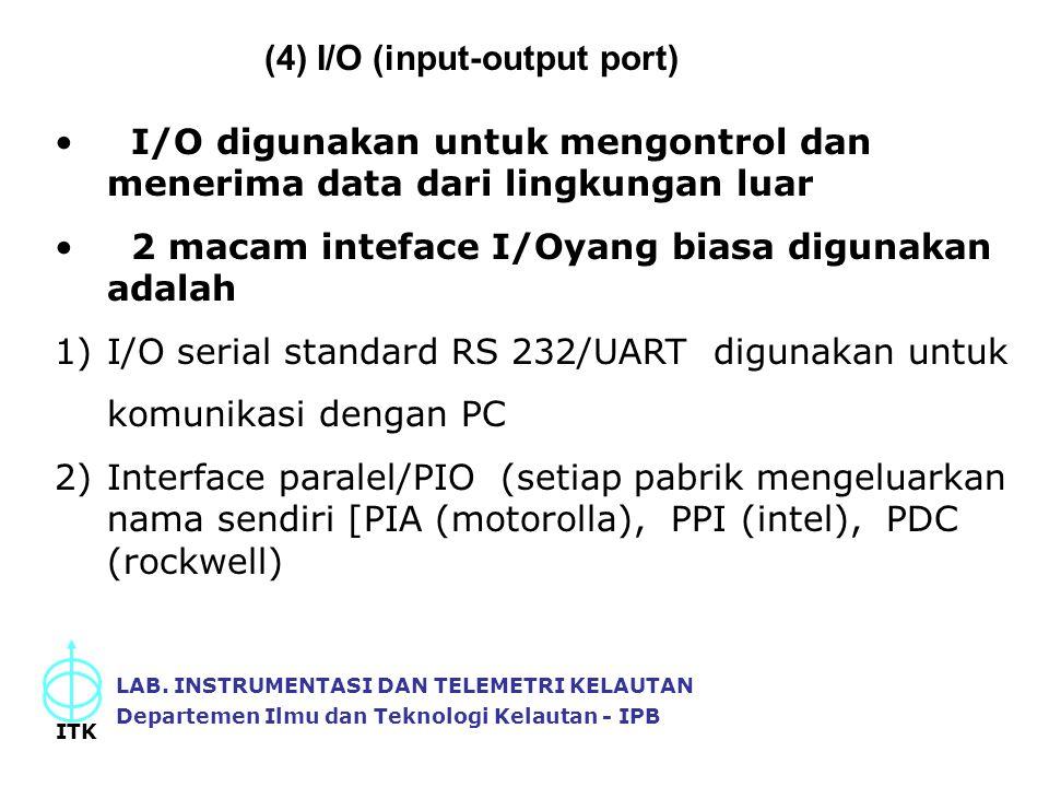 (4) I/O (input-output port)