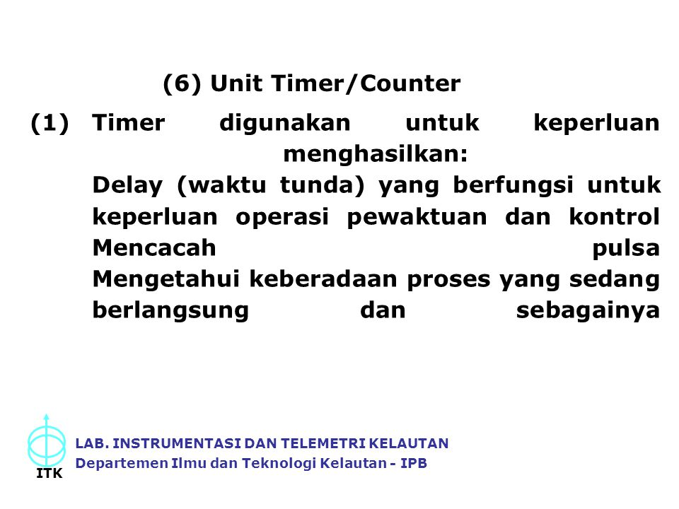 (6) Unit Timer/Counter