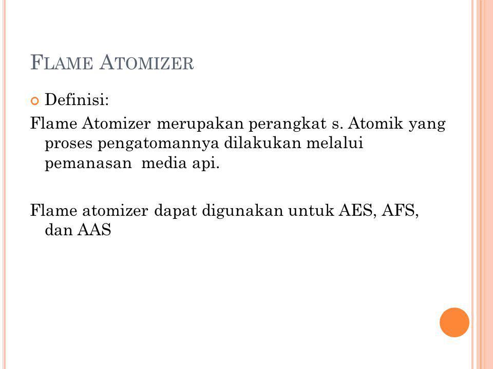 Flame Atomizer Definisi: