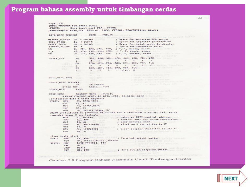 Program bahasa assembly untuk timbangan cerdas