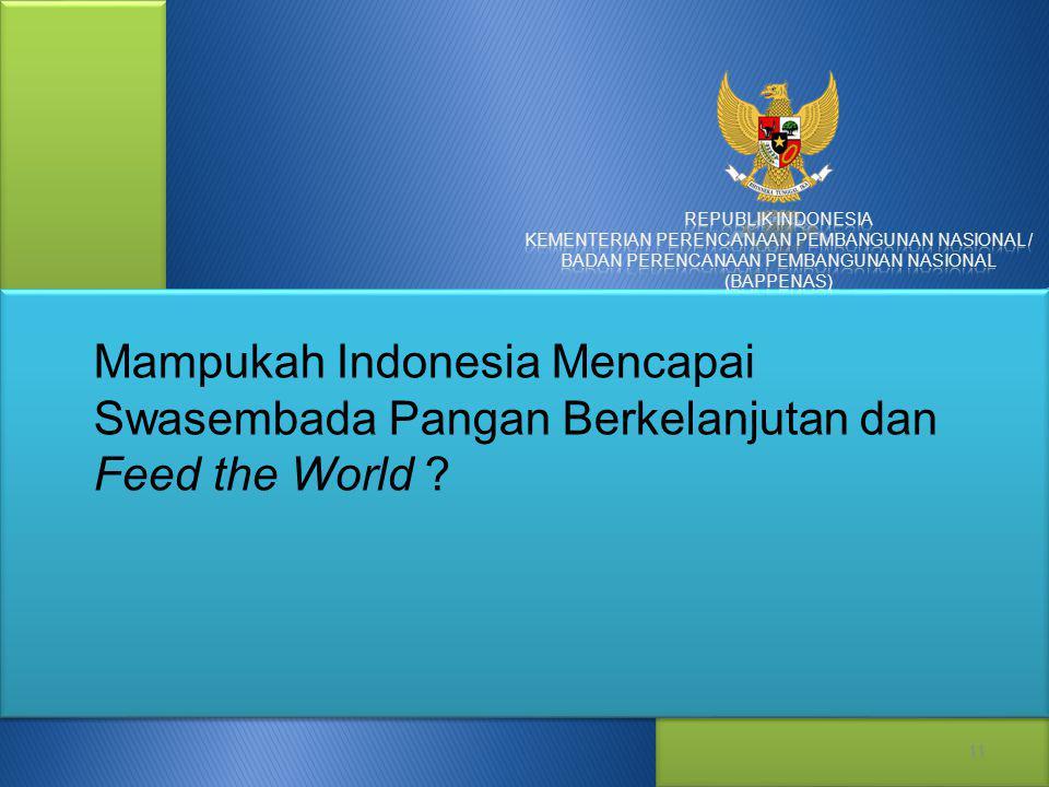 Mampukah Indonesia Mencapai Swasembada Pangan Berkelanjutan dan Feed the World