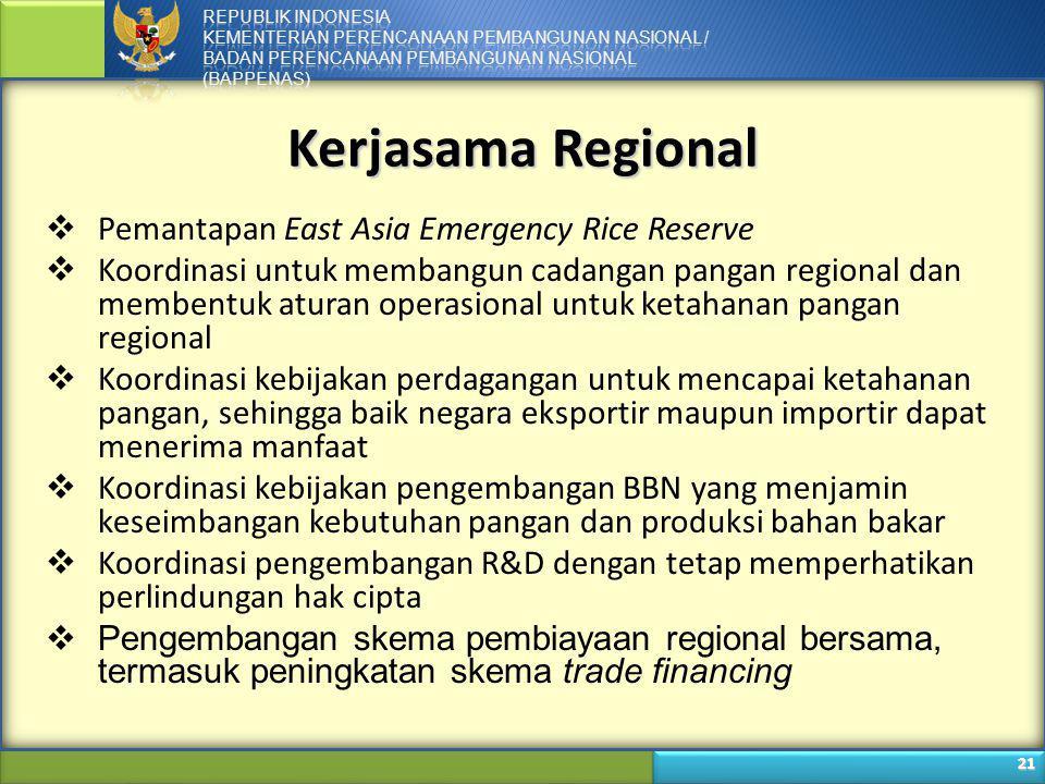 Kerjasama Regional Pemantapan East Asia Emergency Rice Reserve