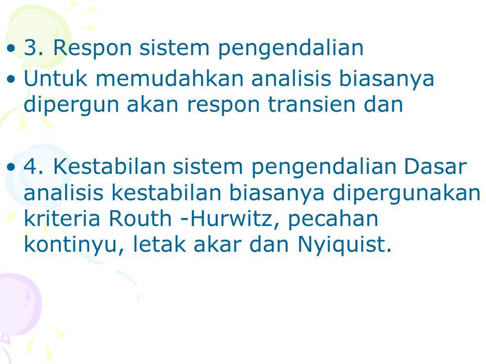 3. Respon sistem pengendalian