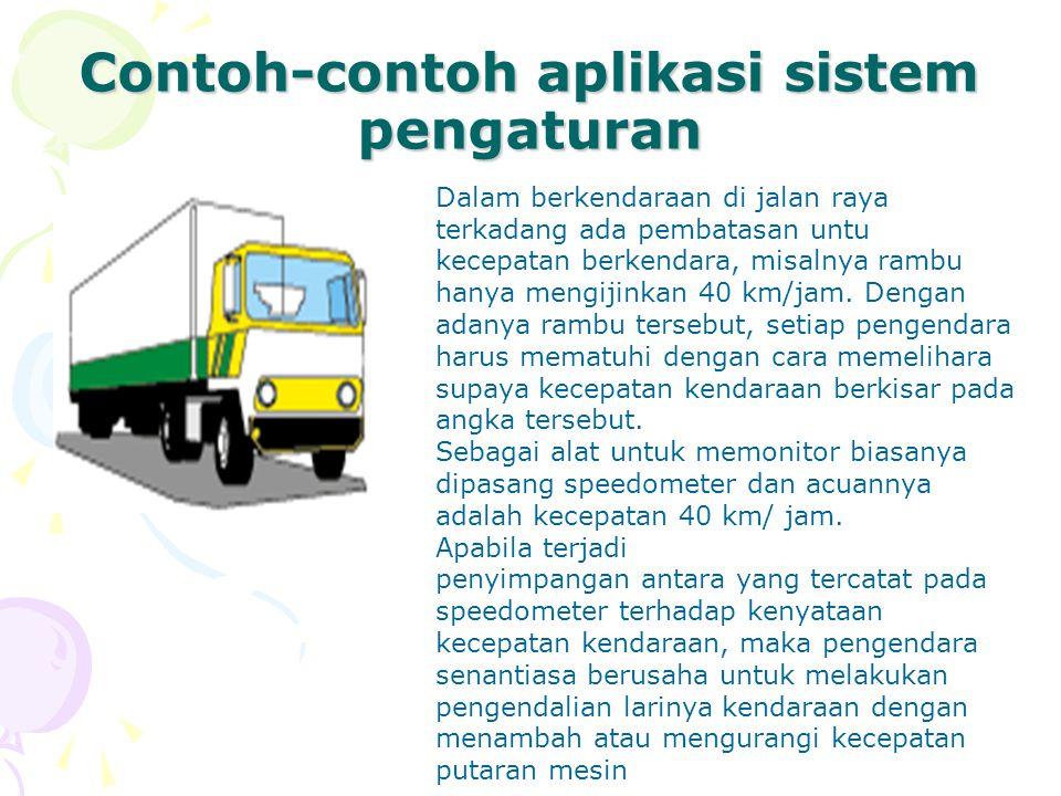 Contoh-contoh aplikasi sistem pengaturan