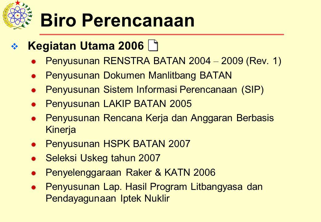 Biro Perencanaan Kegiatan Utama 2006