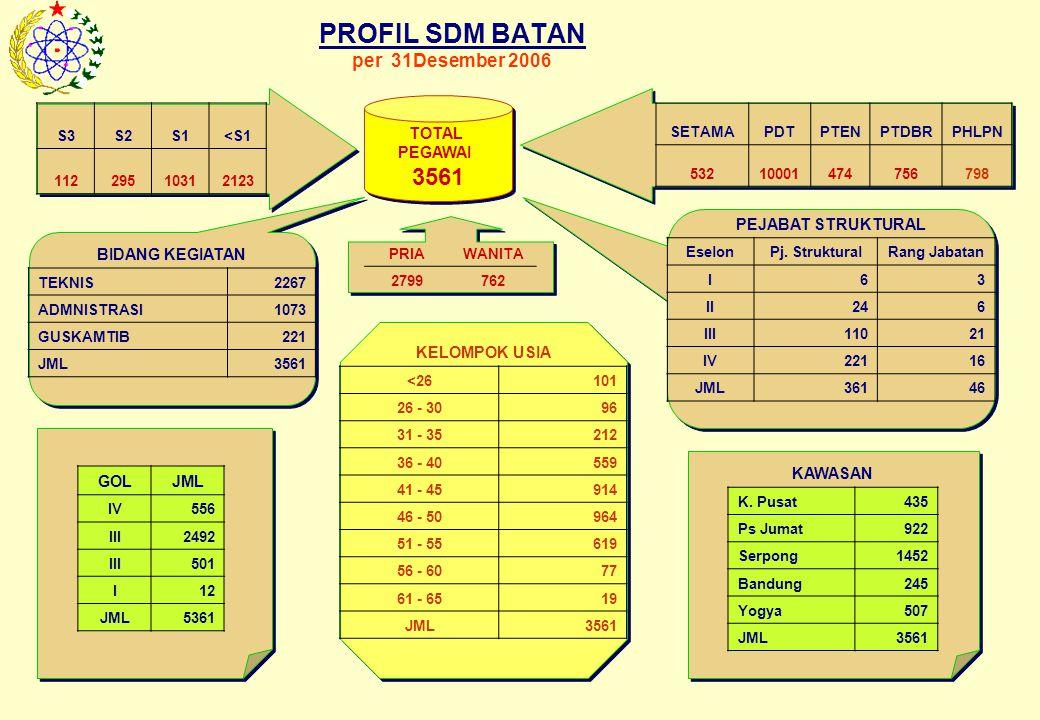 PROFIL SDM BATAN per 31Desember 2006