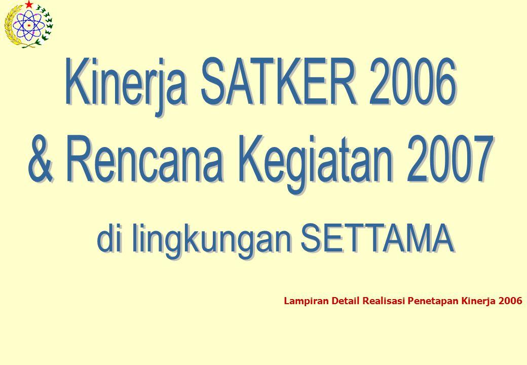 Kinerja SATKER 2006 & Rencana Kegiatan 2007 di lingkungan SETTAMA