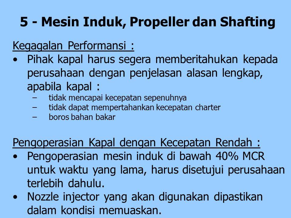5 - Mesin Induk, Propeller dan Shafting