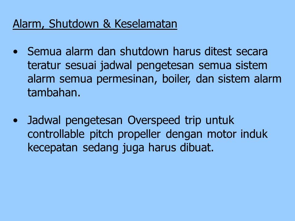 Alarm, Shutdown & Keselamatan