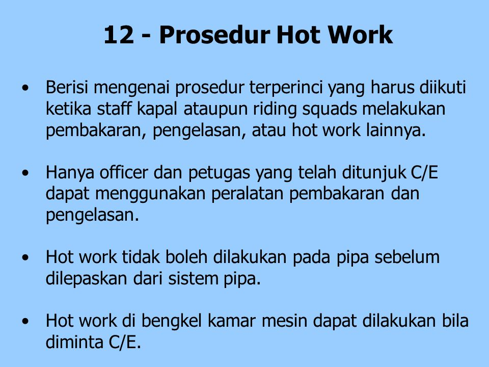 12 - Prosedur Hot Work