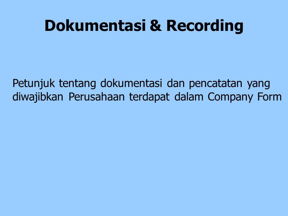 Dokumentasi & Recording