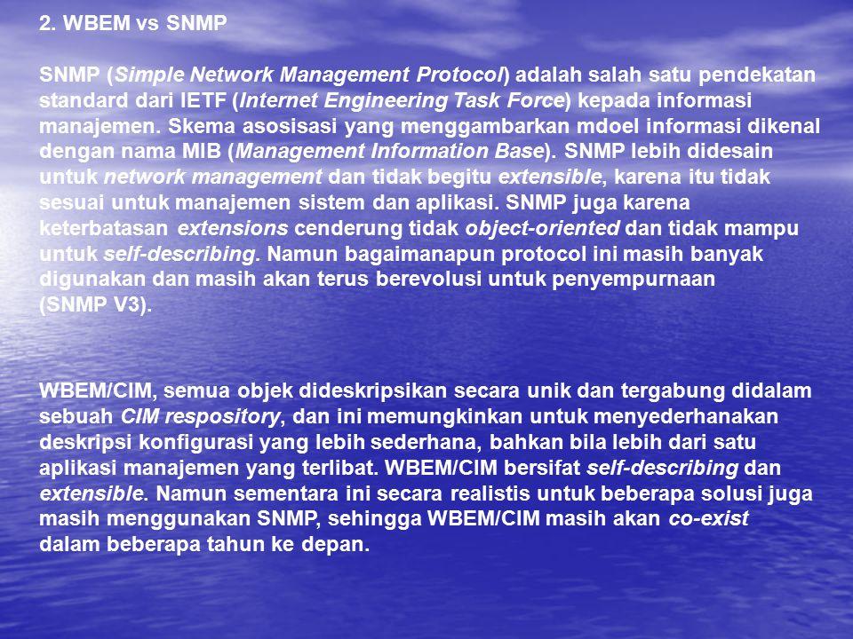 2. WBEM vs SNMP
