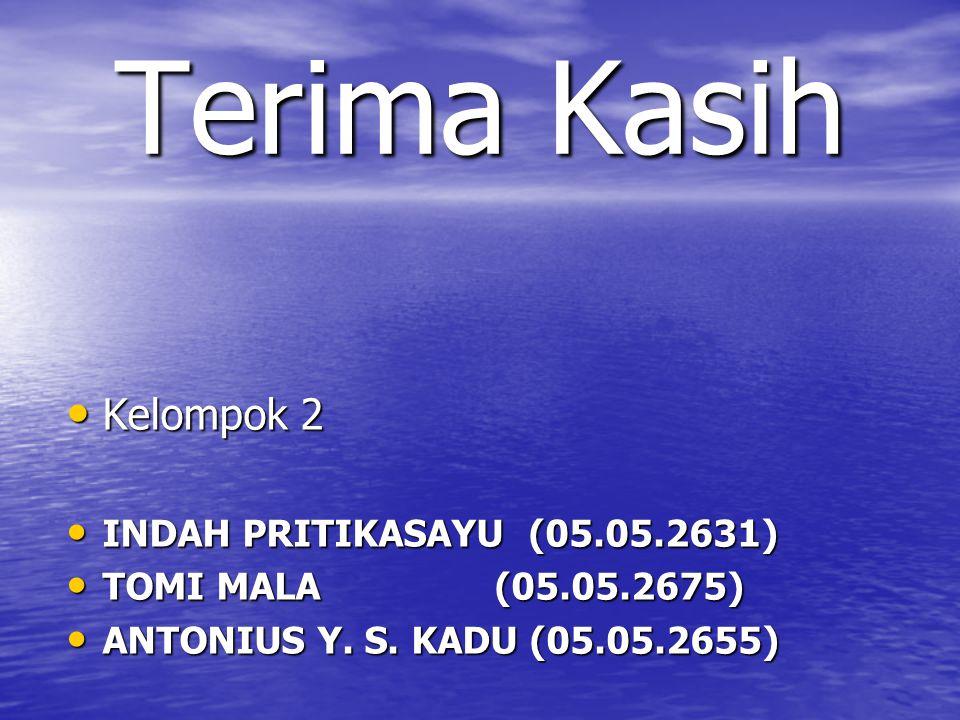 Terima Kasih Kelompok 2 INDAH PRITIKASAYU (05.05.2631)