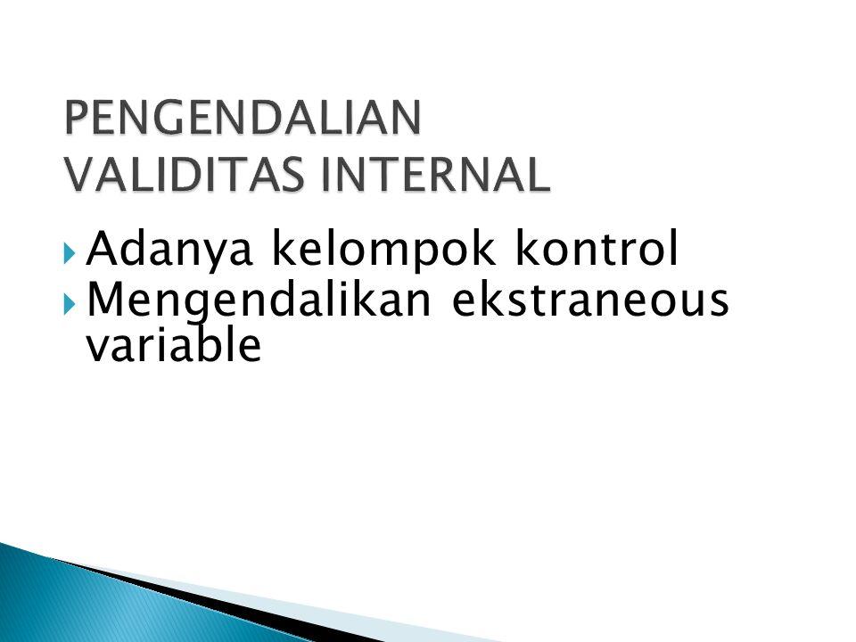 PENGENDALIAN VALIDITAS INTERNAL