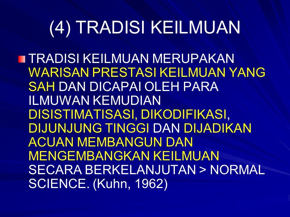 (4) TRADISI KEILMUAN