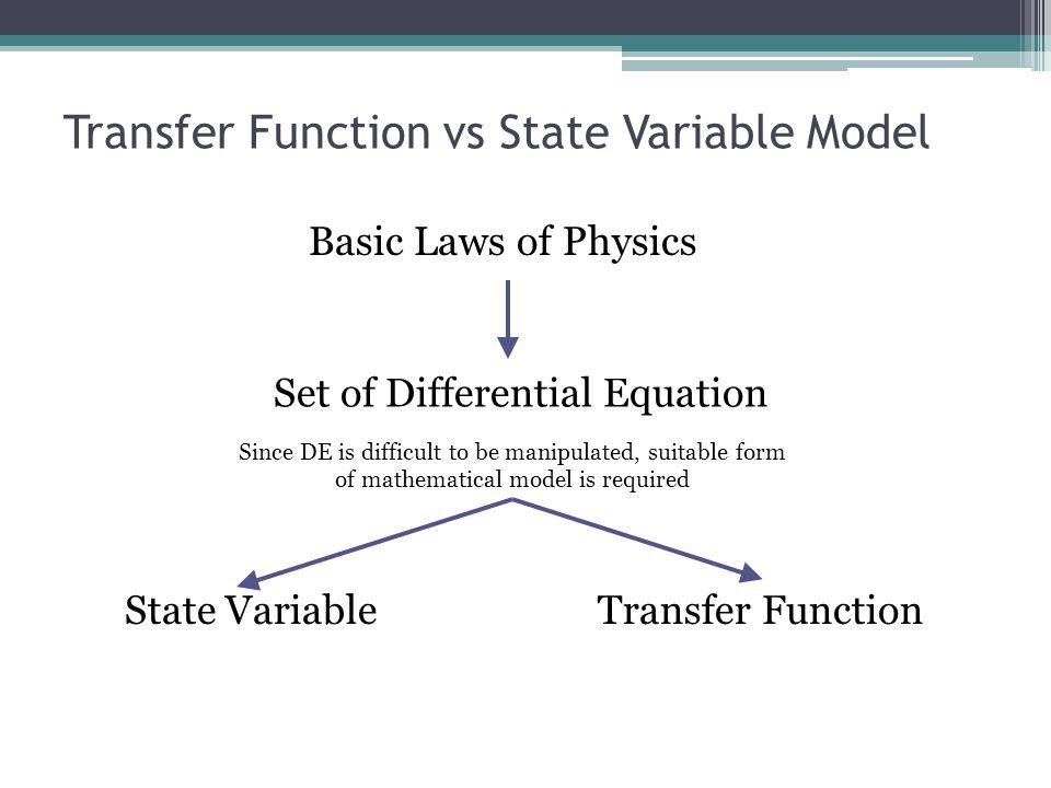 Transfer Function vs State Variable Model