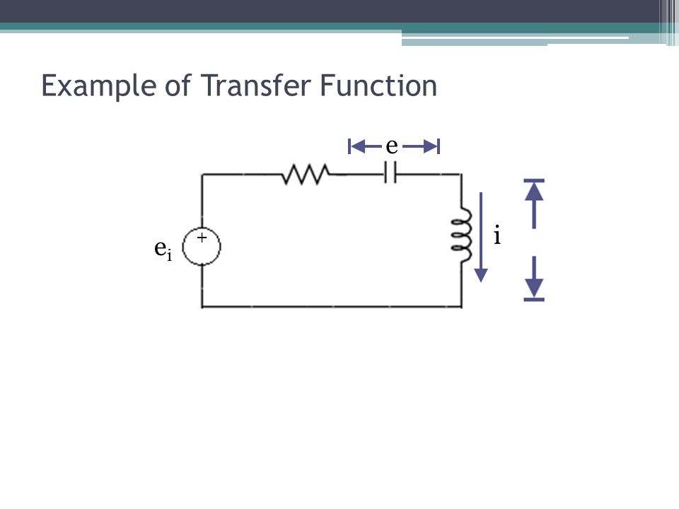 Example of Transfer Function